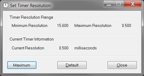 Timer Resolution Windows 7